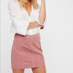 Free People Vegan Suede Mini Skirt - Blush Pink 4